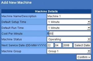Add New Machine